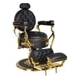 GABBIANO Barber křeslo CESARE GOLD - černé