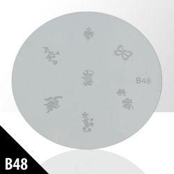 Destička s ornamenty B48