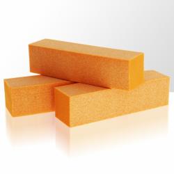 Leštící blok na nehty - oranžový
