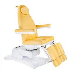 Elektrické křeslo kosmetické BR-6672C žluté