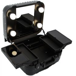Kosmetický kufr GLAMOUR 9301 černý (AS)