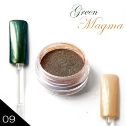 09. Chromatic pigment - GREEN MAGMA - Chromový efekt (A)