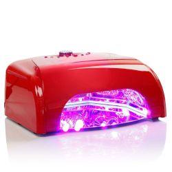 LED UV lampa se sušičkou K1 36W - červená (A)