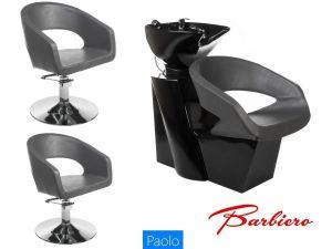 Kadeřnický set 2+1 PAOLO šedý (BS)