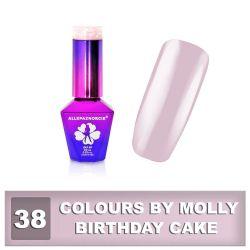 38 Gel lak Colours by Molly 10ml - Birthday Cake (A)