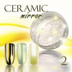 Zdobící prášek na nehty CERAMIC MIRROR - 2. Gold (A)