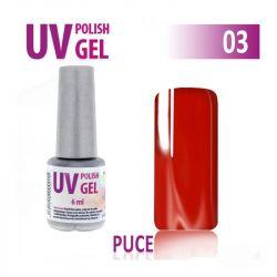 03.UV gel lak na nehty hybridní PUCE - červený 6 ml (A)