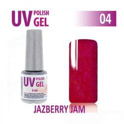 04.UV gel lak na nehty hybridní - JAZBERRY JAM - malina 6 ml (A)