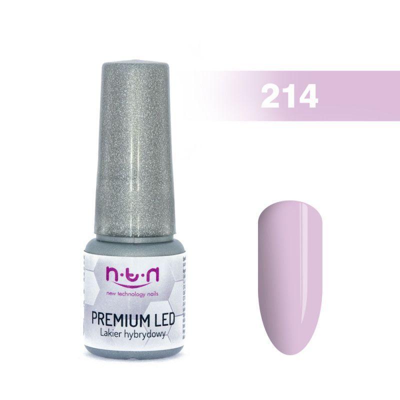 214.NTN Premium Led lak na nehty fialová 6 ml
