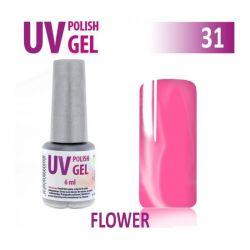31.UV gel lak hybridní FLOVER květinová růžová 6 ml (A)