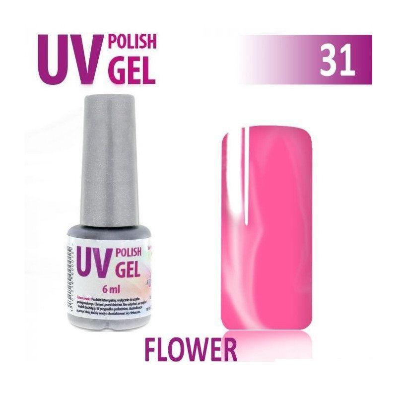 31.UVgel lak hybridní FLOVER květinová růžová 6 ml