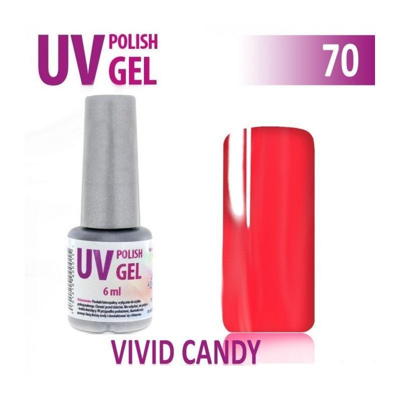 70.UV gel lak na nehty hybridní VIVID CANDY 6 ml