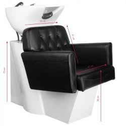 GABBIANO Kadeřnický mycí box HAMBURG černý