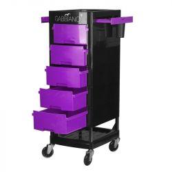 GABBIANO Kadeřnický úložný stolek FT65 černo/fialová
