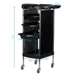 GABBIANO Odkládací stolek FX11-A černý