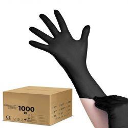 Jednorázové nitrilové rukavice černé - S - karton 10ks (VP)