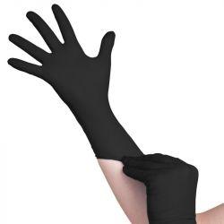 Jednorázové nitrilové rukavice černé - velikost M (VP)