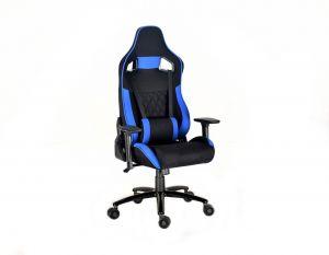Látková herní židle X-2645 modrá