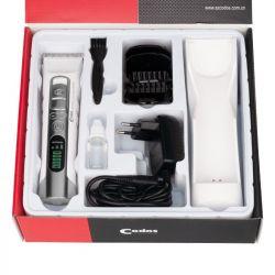 Bezdrátový profesionální zastřihovač vlasů  CHC-919 s lithium-iontovou baterií.