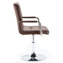 Kosmetická židle na kulaté podstavě HC-1015NP hnědá