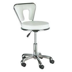 Kosmetická židle AUSTIN na podstavě s kolečky - bílá