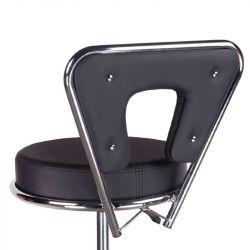 Kosmetická židle AUSTIN na podstavě s kolečky černá