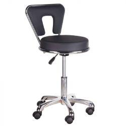 Kosmetická židle AUSTIN na podstavě s kolečky - černá