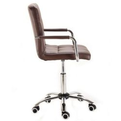 Kosmetická židle VERONA na podstavě s kolečky hnědá