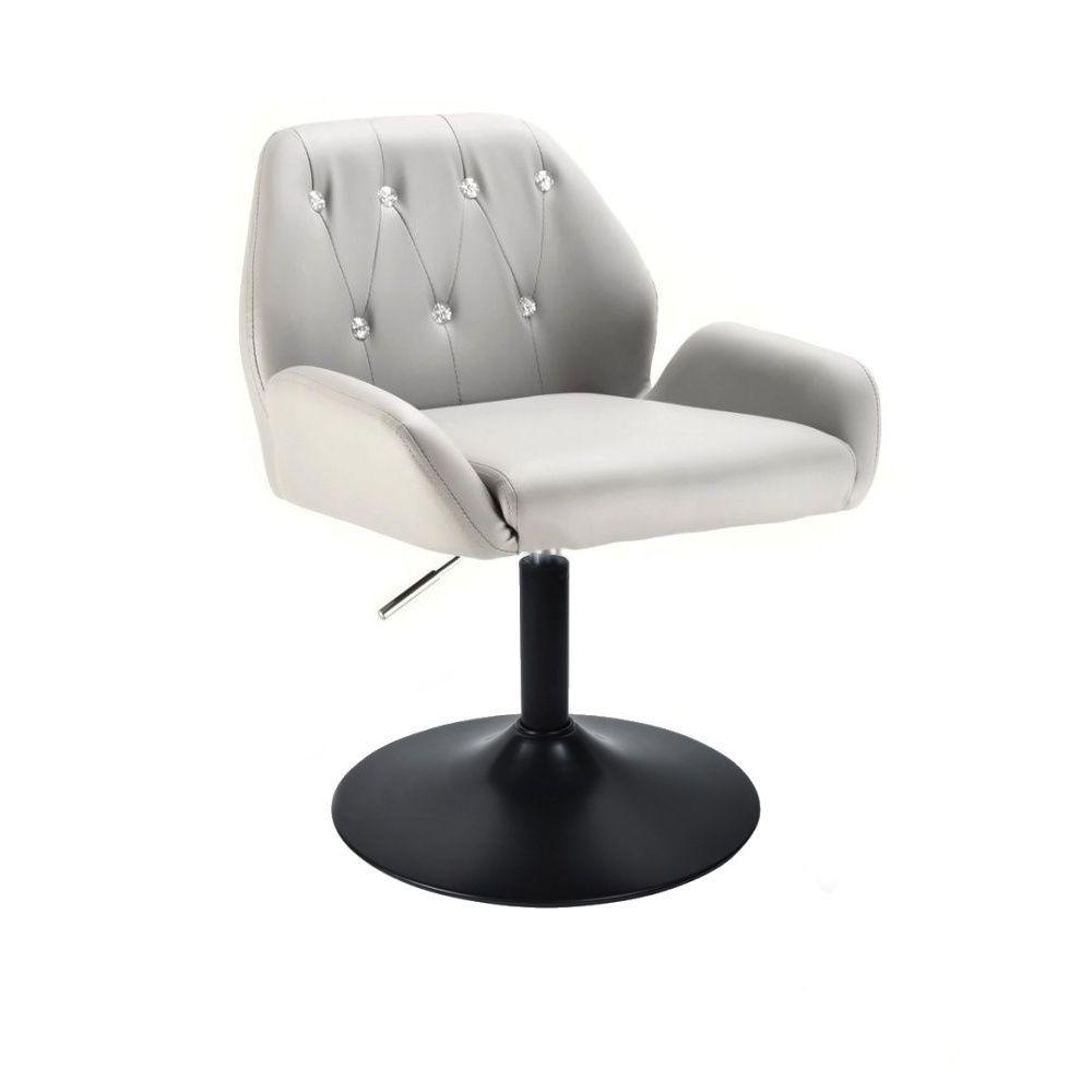 Kosmetická židle LION na černém talíři - šedá