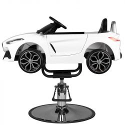 Dětské kadeřnické křeslo - autíčko BMW ROADSTER - bílé