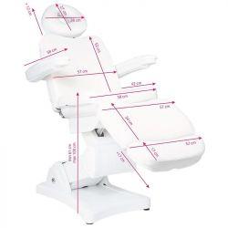 Elektrické kosmetické křeslo ECLIPSE bílé - 3 motory