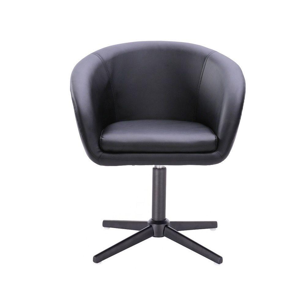 Židle HC-8326K na černém kříži - černá
