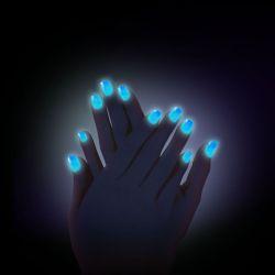 Svítící prášek na nehty č. 1