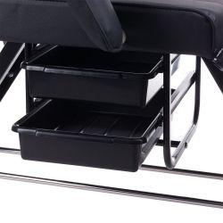 Kosmetické křeslo BW-263 se zásuvkami - černé