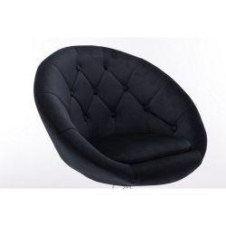 Kosmetické křeslo VERA VELUR na černém talíři - černá