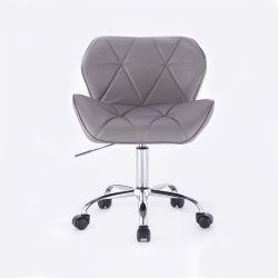 Kosmetická židle MILANO na podstavě s kolečky šedá
