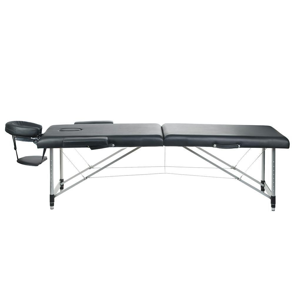 Skládací masážní a rehabilitační stůl BS-723 - černý