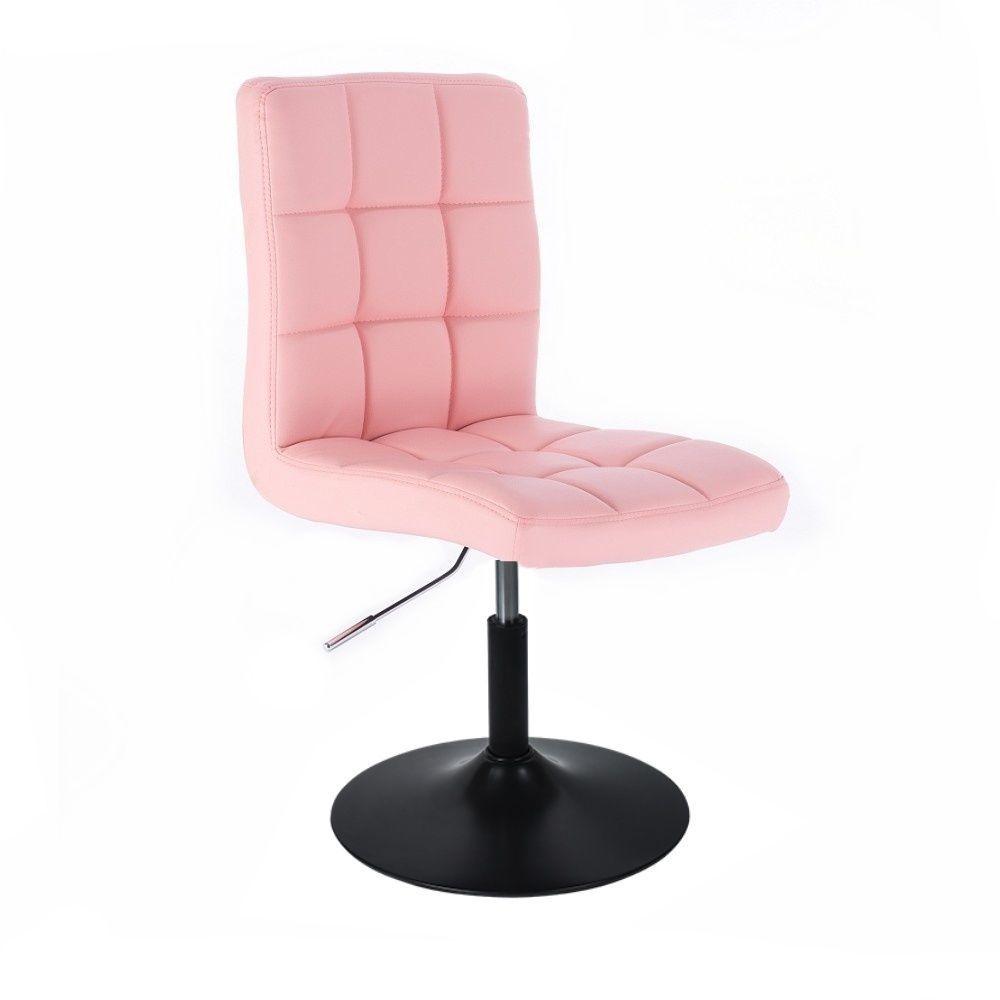Kosmetická židle TOLEDO na černém talíři - růžová