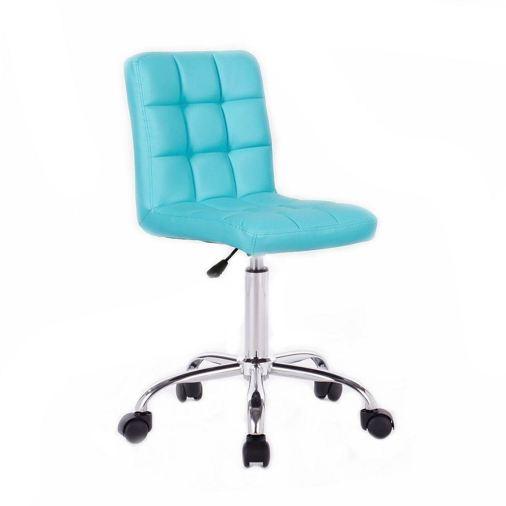Kosmetická židle TOLEDO na podstavě s kolečky tyrkysová