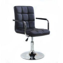 Kosmetická židle VERONA na kulaté podstavě černá
