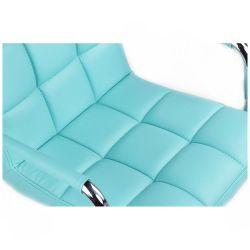 Kosmetická židle VERONA na kulaté podstavě - tyrkysová