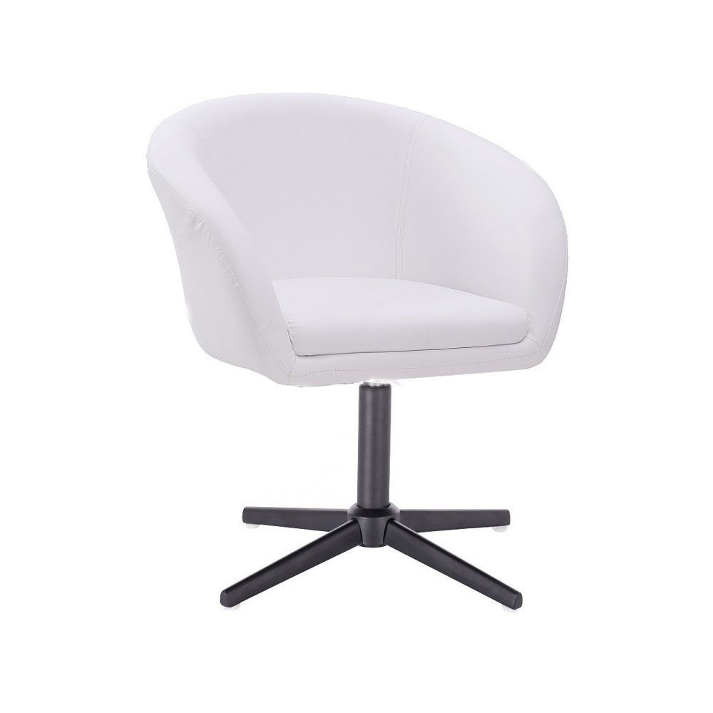 Židle HC-8326K na černém kříži - bílá